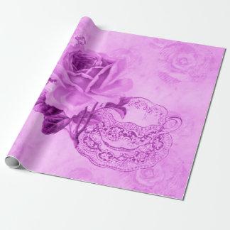 Papier d'emballage de &Flowers vintages assez Papier Cadeau