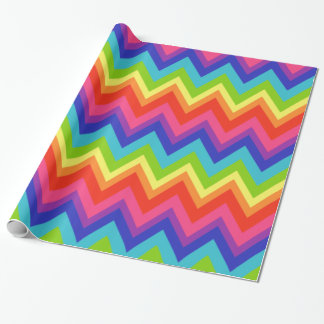 Papier d'emballage de grand arc-en-ciel lumineux papiers cadeaux