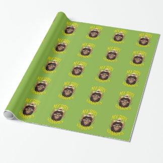 Papier d'emballage de Joyeux Noël de Krampus Papier Cadeau
