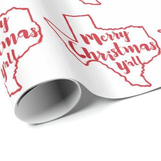 Papier d'emballage de Joyeux Noël d'état du Texas Papiers Cadeaux Noël
