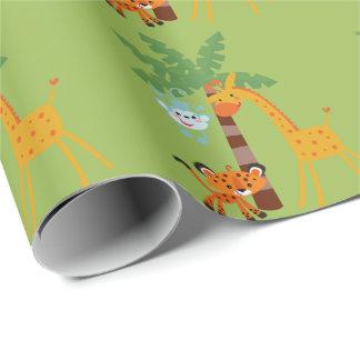 Papier d'emballage de jungle papier cadeau