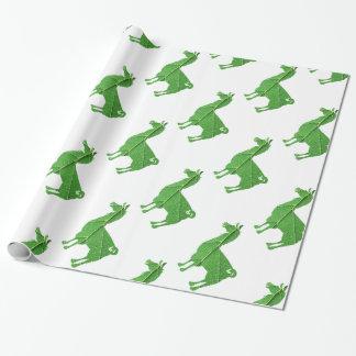 Papier d'emballage de lama de feuille papier cadeau