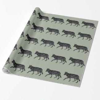papier d'emballage de loup de Cru-style Papier Cadeau