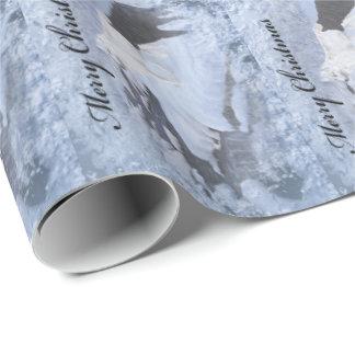 Papier d'emballage de loups papier cadeau