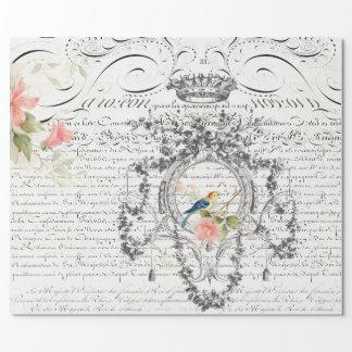 Papier d'emballage de manuscrit d'éphémères papier cadeau