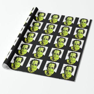Papier d'emballage de mauvais jour des cheveux de papier cadeau noël