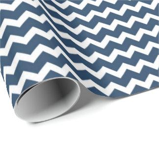 Papier d'emballage de motif blanc de Chevron de Papier Cadeau