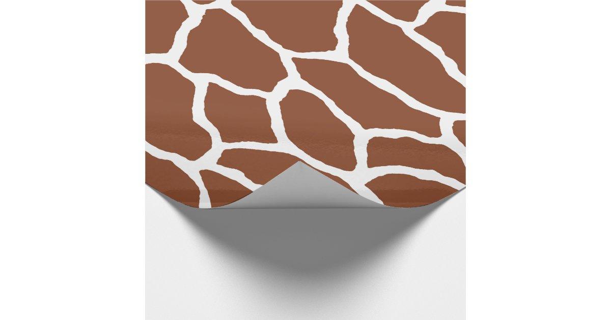 Papier d 39 emballage de motif de peau de girafe de papier - Papier cadeau personnalisable ...