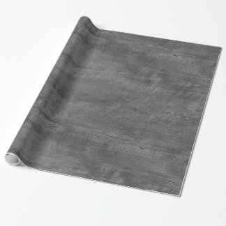 papier d'emballage de motif en bois gris papier cadeau