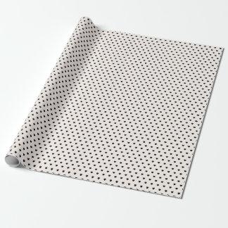 Papier d'emballage de motif noir de coeurs papier cadeau