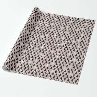 Papier d'emballage de motif scandinave de pin papier cadeau