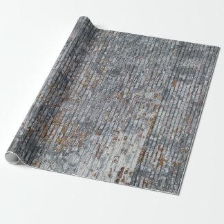 Papier d'emballage de mur de briques gris grunge papier cadeau