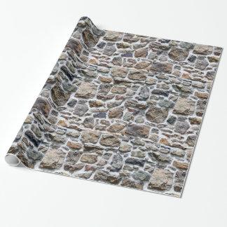Papier d'emballage de mur en pierre papiers cadeaux