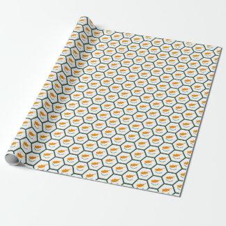 Papier d'emballage de nid d'abeilles de drapeau de papier cadeau