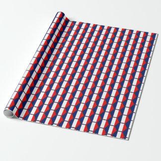Papier d'emballage de nid d'abeilles de drapeau de papiers cadeaux