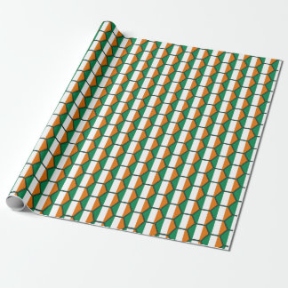 Papier d'emballage de nid d'abeilles de drapeau de papiers cadeaux noël