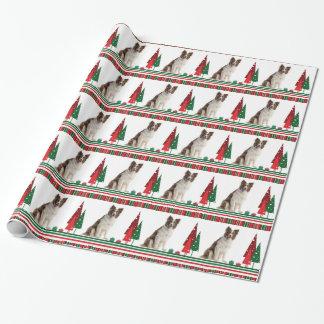 Papier d'emballage de Noël de border collie Papier Cadeau