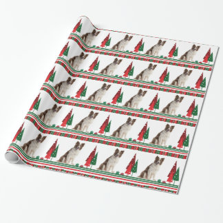 Papier d'emballage de Noël de border collie Papiers Cadeaux