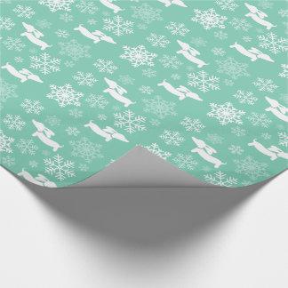 Papier d'emballage de Noël de flocon de neige de Papier Cadeau Noël