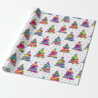 Papier d'emballage de Noël de flocons de neige Papier Cadeau