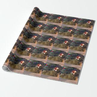 Papier d'emballage de Noël de Leonberger Papier Cadeau