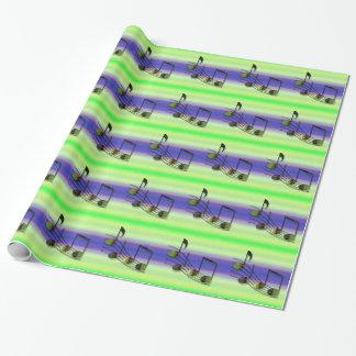 Papier d'emballage de notes de Dubstep Papiers Cadeaux