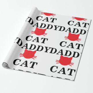 Papier d'emballage de papa de chat papiers cadeaux noël