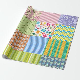 Papier d'emballage de patchwork papier cadeau