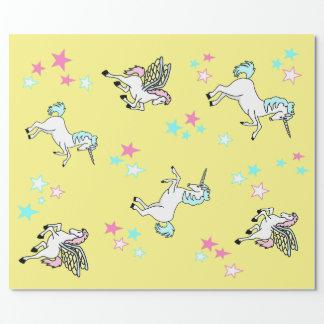 Papier d'emballage de Pegasus de licorne Papier Cadeau