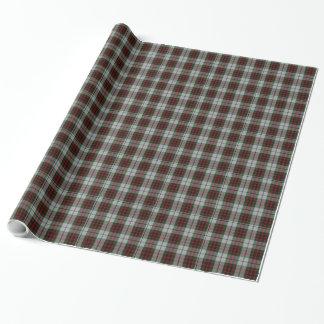 Papier d'emballage de plaid de tartan de robe de papier cadeau