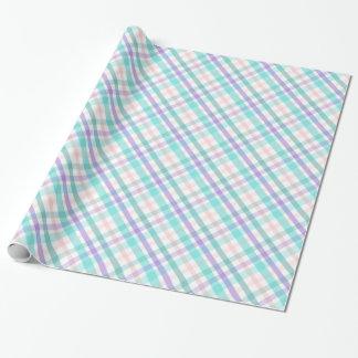 Papier d'emballage de plaid en pastel papier cadeau