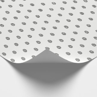 """Papier d'emballage de pois en spirale """"noir et papier cadeau"""