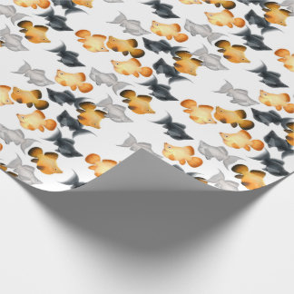 Papier d'emballage de poissons tropicaux papier cadeau noël
