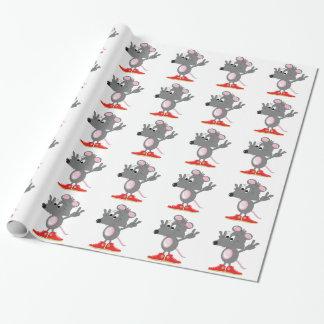 Papier d'emballage de rat - Randoon Papier Cadeau