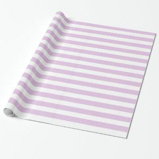Papier d'emballage de rayures doucement pourpres papier cadeau noël