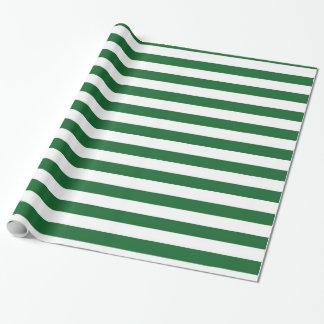 Papier d'emballage de rayures vertes et blanches papiers cadeaux noël