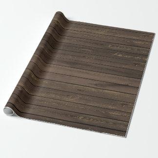 Papier d'emballage de texture en bois rustique papier cadeau
