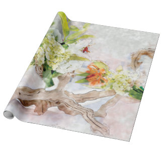 Papier d'emballage de toile d'aquarelle de Bella Papier Cadeau