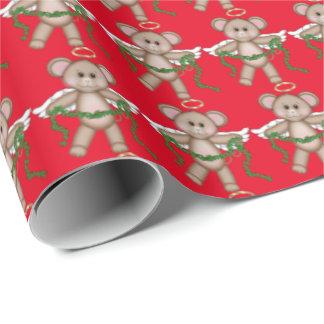 Papier d'emballage de vacances de souris d'ange de papier cadeau