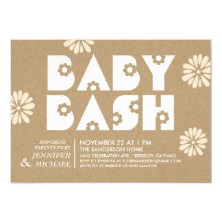 Papier d'emballage d'invitations de baby shower du carton d'invitation  12,7 cm x 17,78 cm