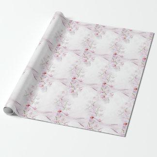 Papier d'emballage d'orchidée papier cadeau noël