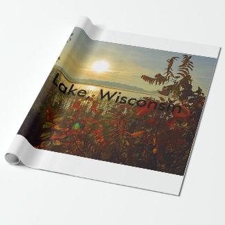 Papier d'emballage du Wisconsin de lac hope Papier Cadeau Noël
