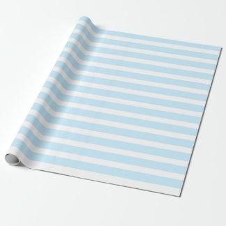 Papier d'emballage en pastel de rayures bleues et papier cadeau