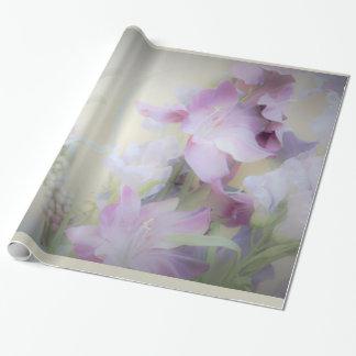 Papier d'emballage floral en pastel papiers cadeaux noël