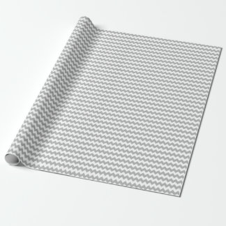 Papier d'emballage gris de Chevron Papier Cadeau