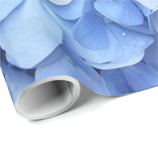 Papier d'emballage - hortensia bleu papier cadeau