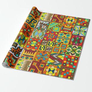 Papier d'emballage inspiré par INCA Papier Cadeau Noël