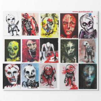 """Papier d'emballage mat d'art de zombi, 30"""" x 6' papiers cadeaux"""
