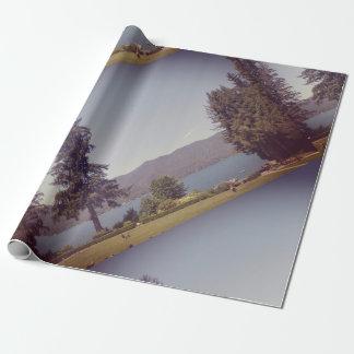 Papier d'emballage mat de Quinault de lac Papiers Cadeaux Noël