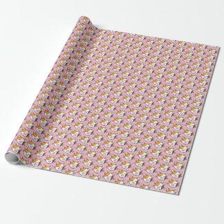 Papier d'emballage mignon de chat de calicot papier cadeau